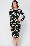Graphic Mono Fleur Dress