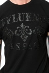 Embossed Tapestry Pattern T-Shirt