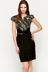 Stud Belted Smart Dress