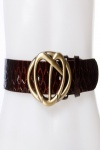Twisted Hearts Embossed Belt