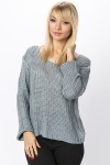 Perforated Dip Hem Casual Pullover