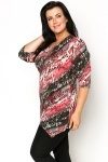 Distressed Letter Print Tunic