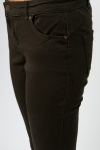 Cotton Blend Straight Leg Trousers