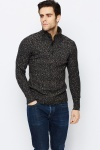 Speckle Button Neck Jumper