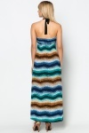 Mosaic Striped Maxi Dress