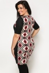 Fleeced Aztec Print Dress