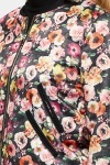 Satin Feel Floral Bomber Jacket