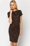Tapestry Embossed Pencil Dress