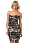 Tribal Sequined Bandeau Dress