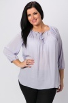 Tie Up Neck Lilac Blouse