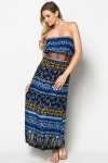 Belted Paisley Print Maxi Dress