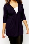 V-Neck Purple Tunic