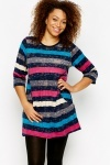 Multi Stripe Star Print Tunic
