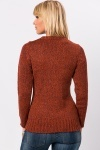 Cable Front Speckled Knit Sweater