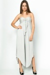 Shirred Asymmetric Jumpsuit