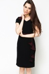 Colour Block Frill Side Dress