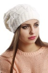 Mix Eyelet & Cable Knit Beanie