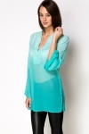 Sequin Embellished Chiffon Tunic