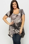 Metallic Animal Print Faded Tunic
