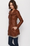 Faux Leather Longline Jacket
