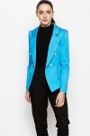 Golden Button Smart Blazer Jacket