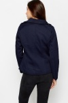 Embossed Navy Mac Jacket