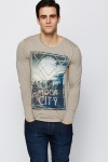 Moon City Graphic Top