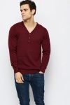 Buttoned Neck Pullover