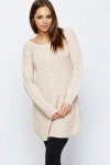Perforated Cable Knit Jumper Dress
