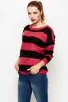 Cable Knit Stripe Jumper