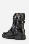 Buckle Side Mock Croc Boots