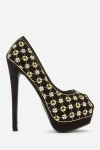 Diamante Peep Toe Stiletto