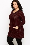 Fleeced Polka Dot Tunic