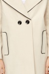 Beige Wide Lapel Coat