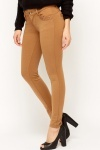 Lace Trim Brown Treggings