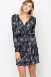 Layered Front Snake Print Dress
