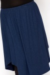 Navy Swing Skirt