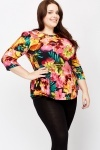 Floral Flared Hem Top