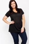 V-Neck Black Top