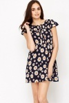 Daisy Print Skater Dress