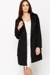 Black Button Up Trench