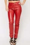 PU Slim Leg Trousers
