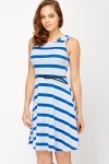 Striped Jersey Skater Dress