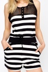 Casual Striped Cotton Playsuit