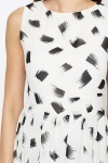Paint Brush Print Skater Dress
