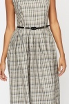 Belted Pleated Dress