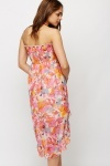 Blurred Floral Print Beach Dress