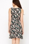 Wrapped Bodice Floral Dress