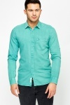Roll Up Sleeves Mint Shirt