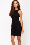 One Shoulder Mesh Bodycon Dress
